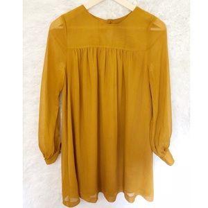 {H&M} Mustard Yellow Short Dress